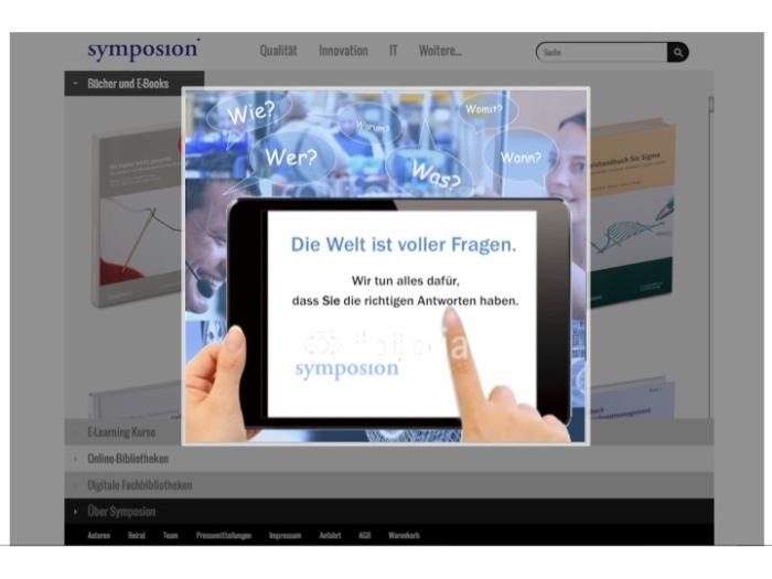 Der neue Claim auf der Symposion-Startseite